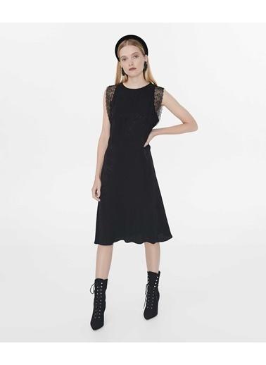 Ipekyol Kolsuz Midi Elbise Siyah